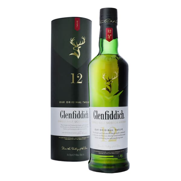 Glenfiddich 12 Years Single Malt Whisky 70cl