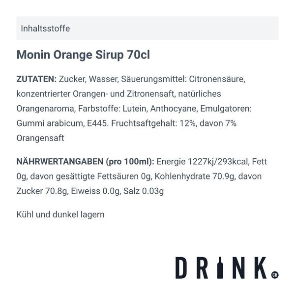 Monin Orange Sirup 70cl