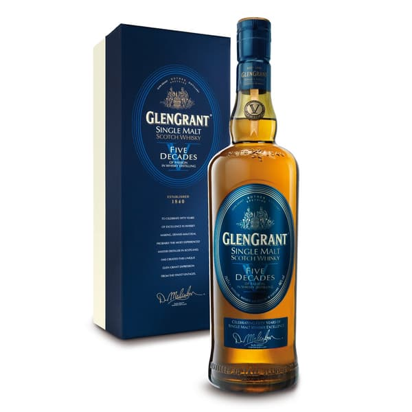 Glen Grant Five Decades Single Malt Whisky 70cl
