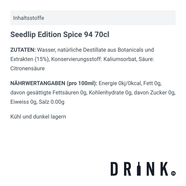 Seedlip Edition Spice 94 70cl