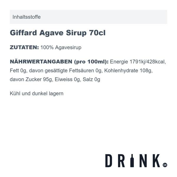 Giffard Agave Sirup 70cl