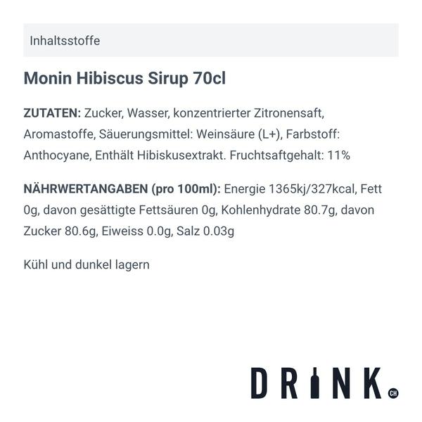 Monin Hibiscus Sirup 70cl