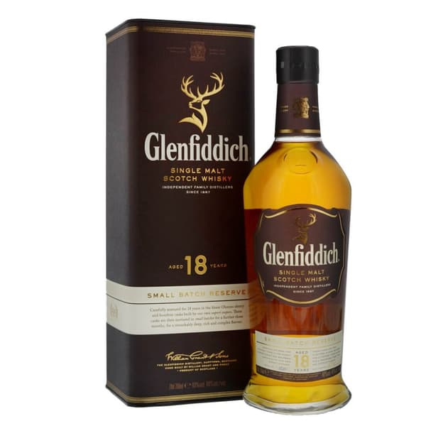 Glenfiddich 18 Years Single Malt Whisky 70cl