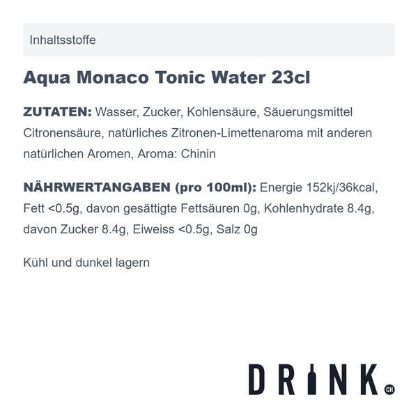 Aqua Monaco Tonic Water 23cl 4er Pack