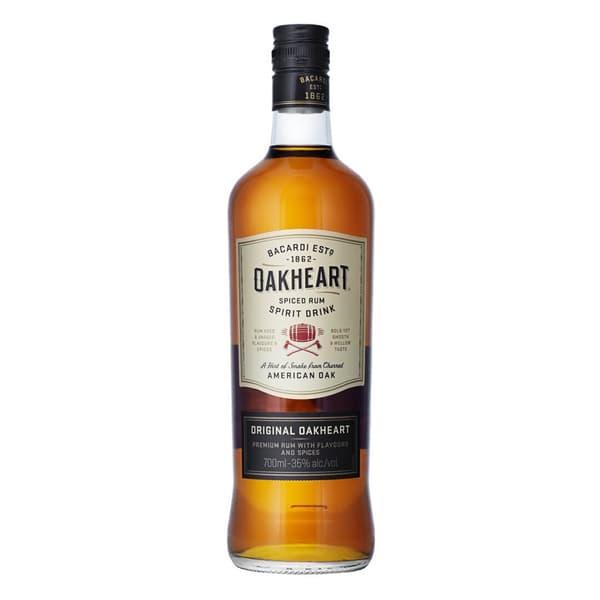 Bacardi Oakheart Spiced 70cl (Spirituose auf Rum-Basis)