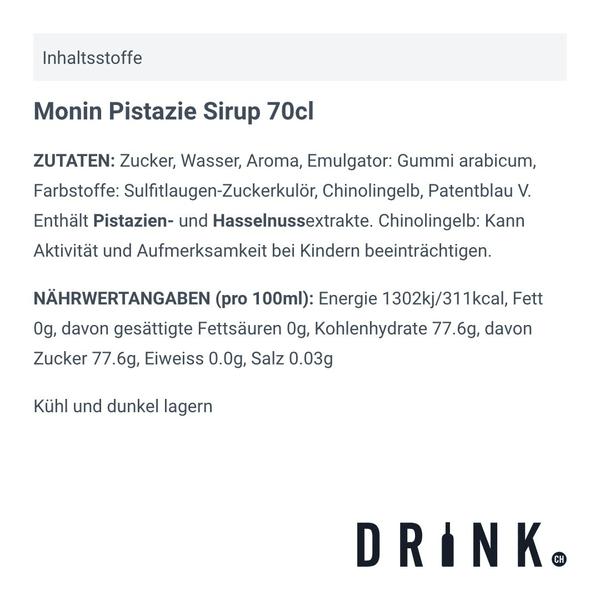 Monin Pistazie Sirup 70cl