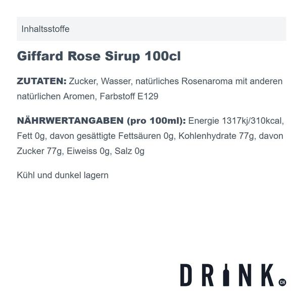 Giffard Rose Sirup 100cl