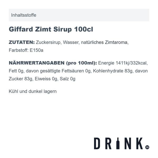 Giffard Zimt Sirup 100cl
