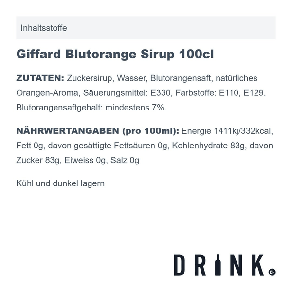Giffard Blutorange Sirup 100cl