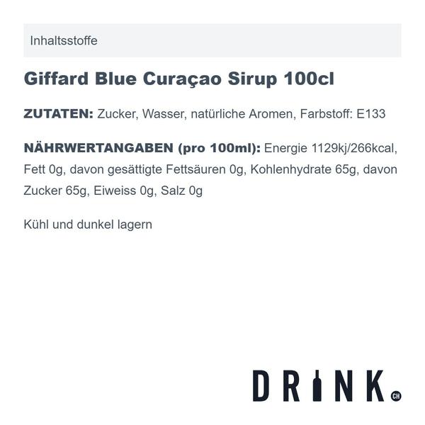 Giffard Blue Curaçao Sirup 100cl