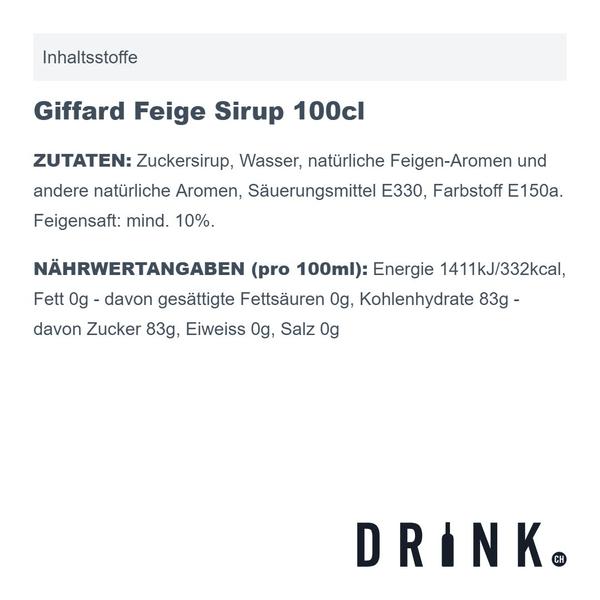 Giffard Feige Sirup 100cl