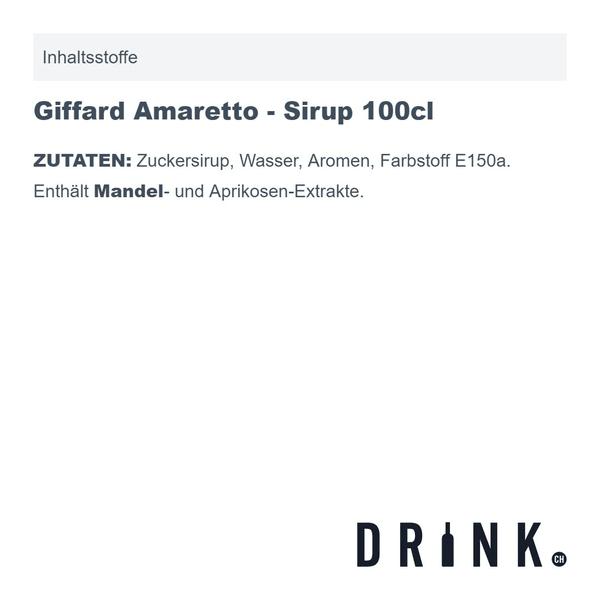 Giffard Amaretto - Sirup 100cl