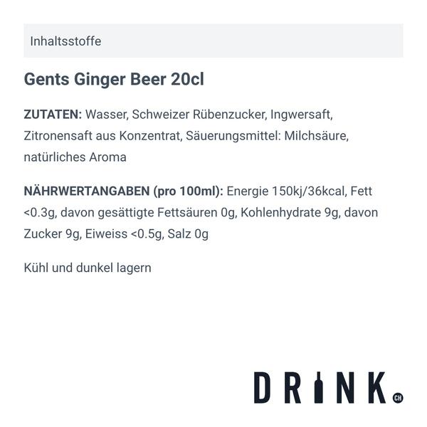 Gents Ginger Beer 20cl, 4er-Pack