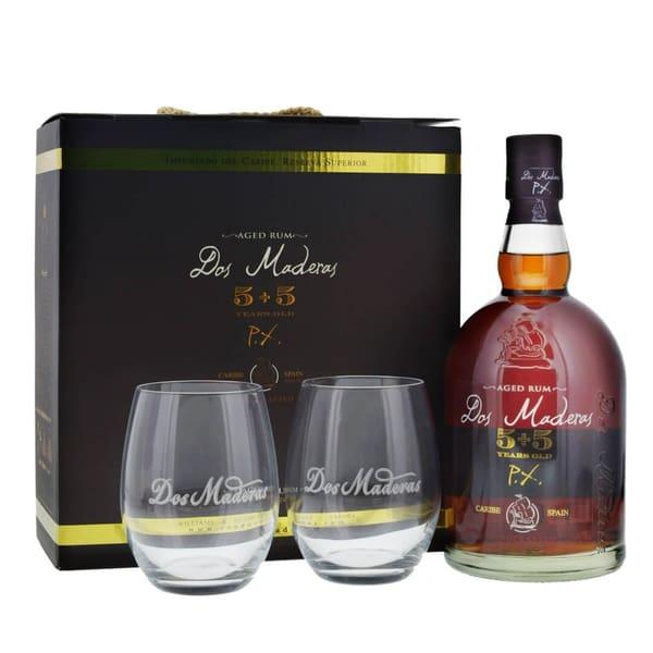 Dos Maderas Rum Pedro Ximenez 5+5 70cl Set mit 2 Gläsern