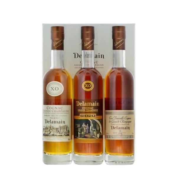 Delamain Cognac Trio Set (Pale&Dray, Vesper, Très Vénérable) 3x20cl