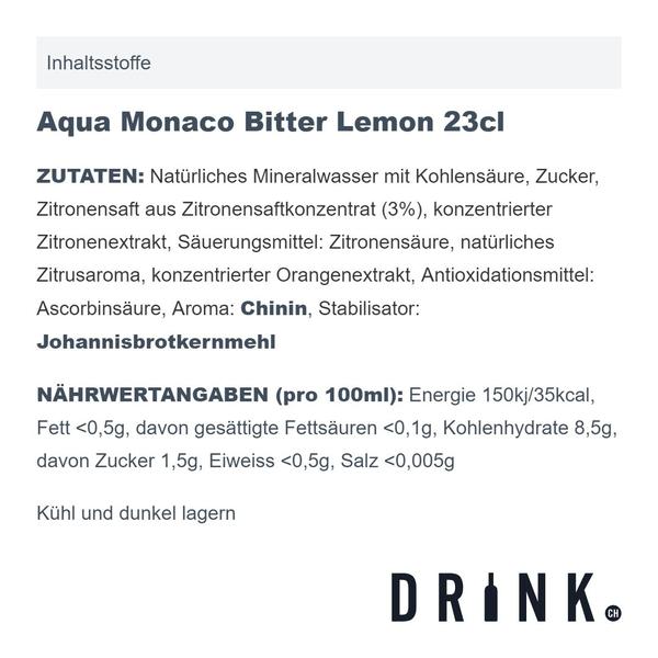 Aqua Monaco Bitter Lemon 23cl 4er Pack
