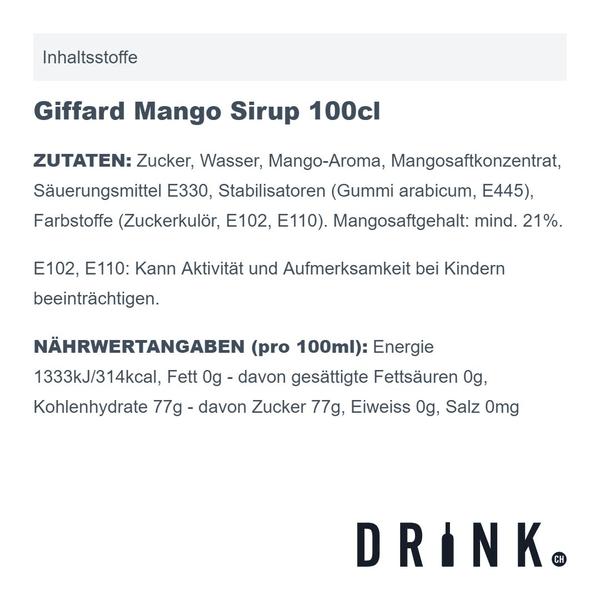 Giffard Mango Sirup 100cl