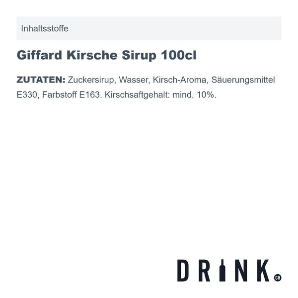 Giffard Kirsche Sirup 100cl