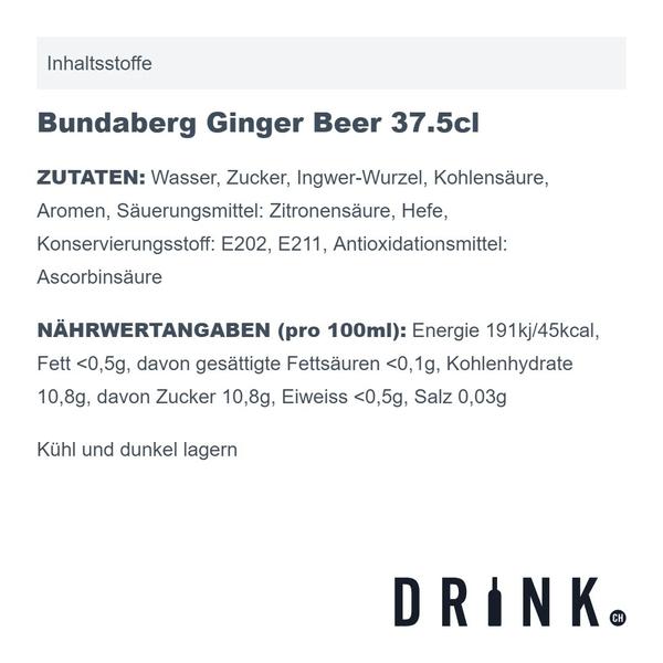 Bundaberg Ginger Beer 37.5cl 4er Pack