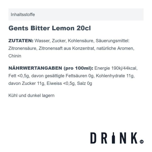 Gents Bitter Lemon 20cl 4er Pack