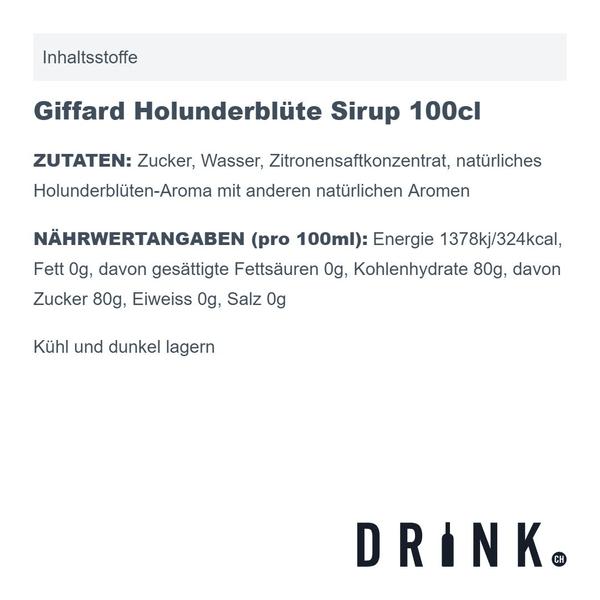 Giffard Holunderblüte Sirup 100cl