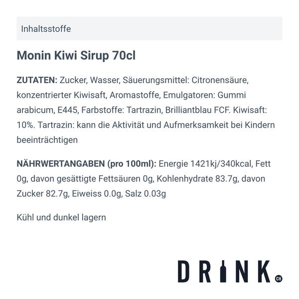 Monin Kiwi Sirup 70cl