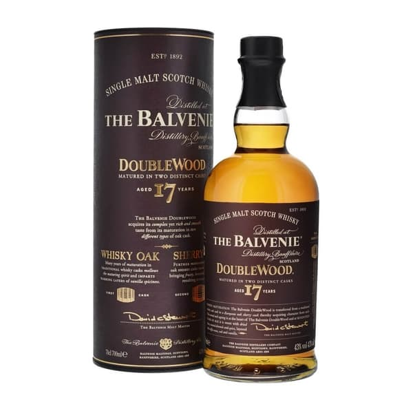 The Balvenie 17 Years Double Wood Single Malt Whisky 70cl