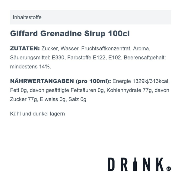 Giffard Grenadine Sirup 100cl