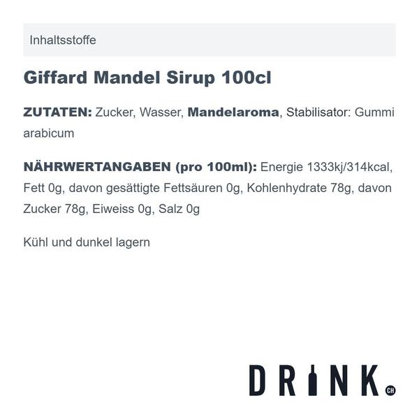 Giffard Mandel Sirup 100cl