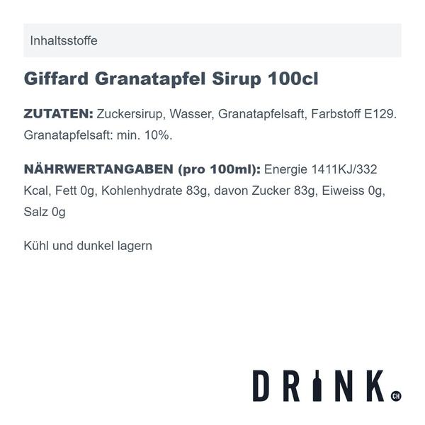 Giffard Granatapfel Sirup 100cl