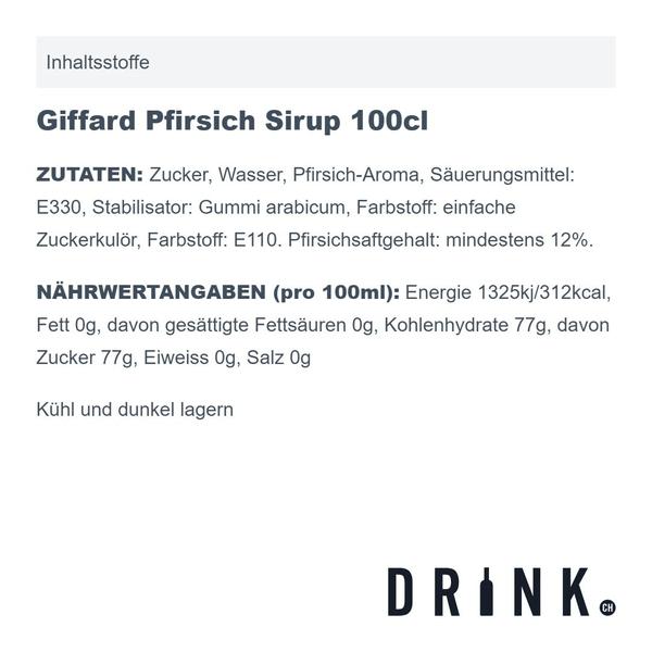 Giffard Pfirsich Sirup 100cl