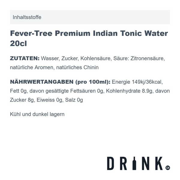 Fever-Tree Premium Indian Tonic Water 20cl 4er Pack