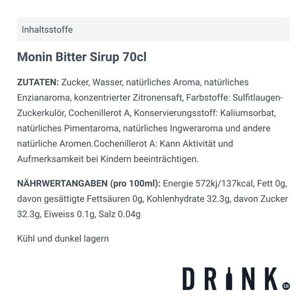 Monin Bitter Sirup 70cl