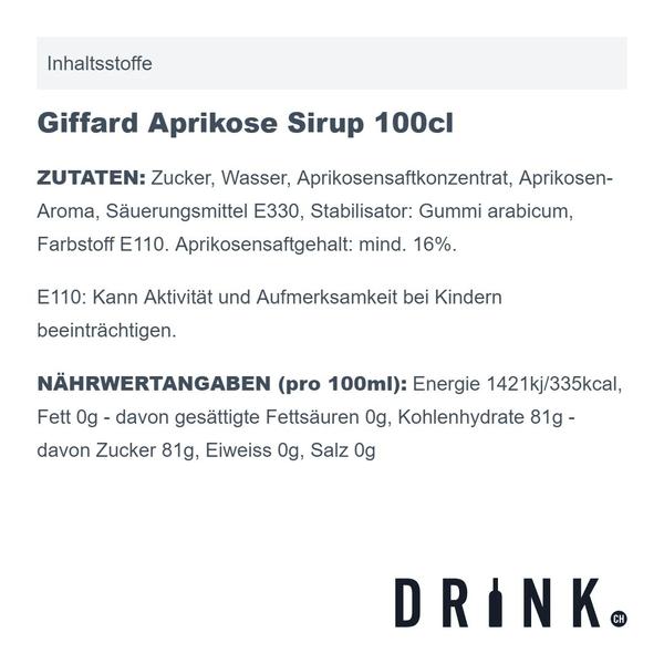 Giffard Aprikose Sirup 100cl