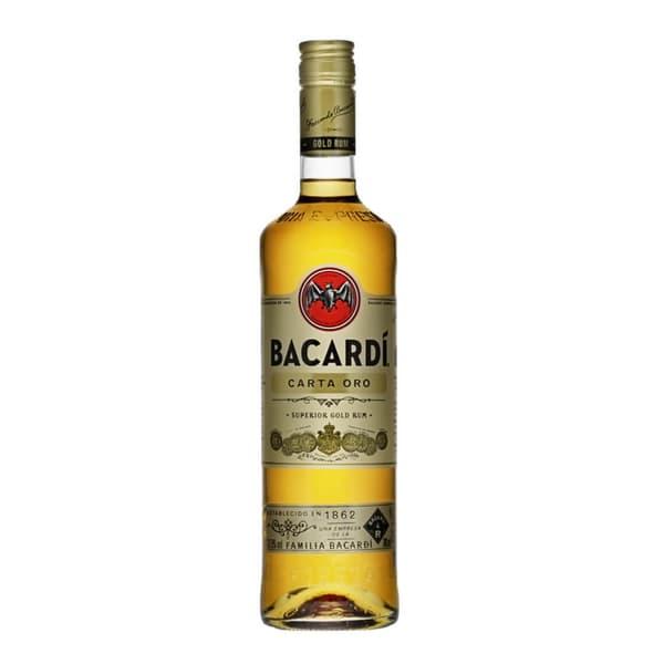 Bacardi Carta Oro Rum 37.5% 70cl