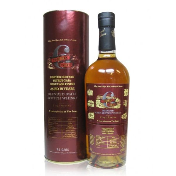 The Six Isles 10 Years Pétrus-Gaïa Finish Blended Malt Whisky 70cl