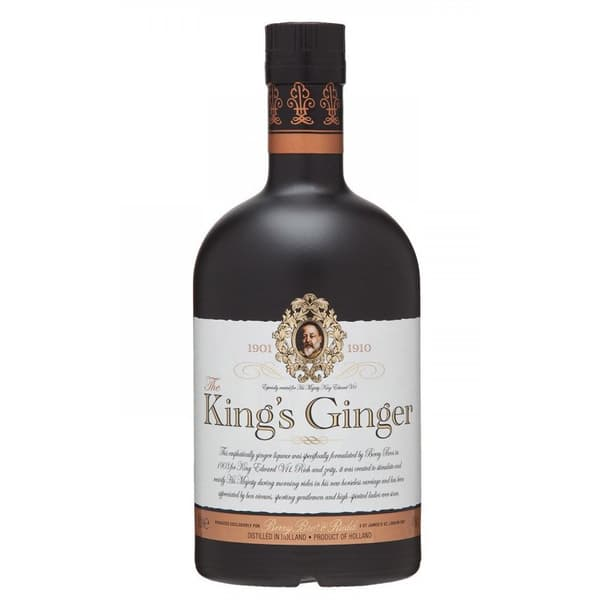 The King's Ginger Liqueur 50cl mit Flachmann
