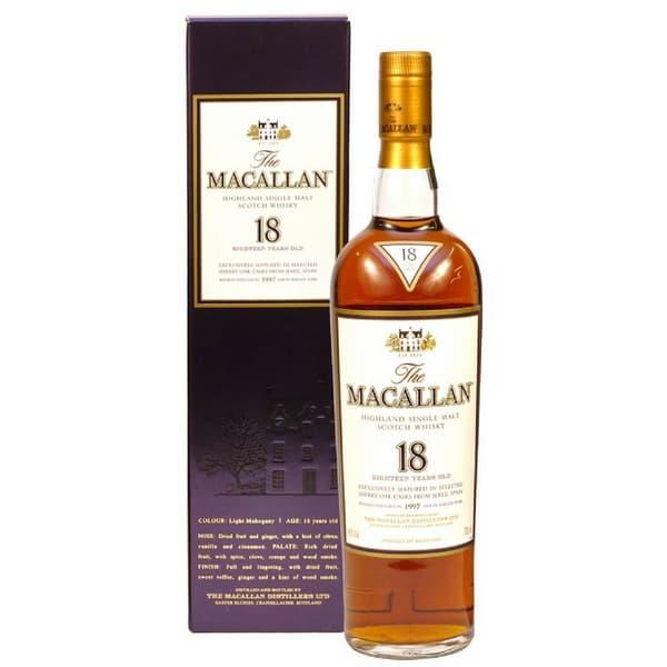 The Macallan 18 Years Sherry Oak Single Malt Whisky 70cl