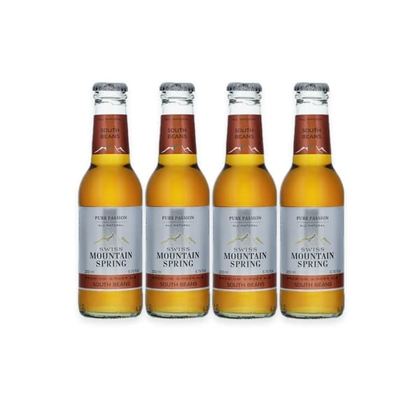 Swiss Mountain Spring South Beans Ginger Ale, 4er-Pack