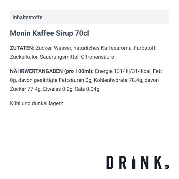 Monin Kaffee Sirup 70cl