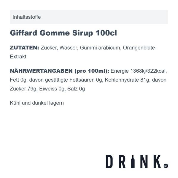 Giffard Gomme Sirup 100cl