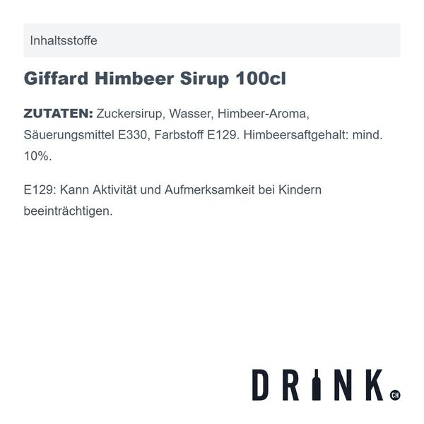 Giffard Himbeer Sirup 100cl