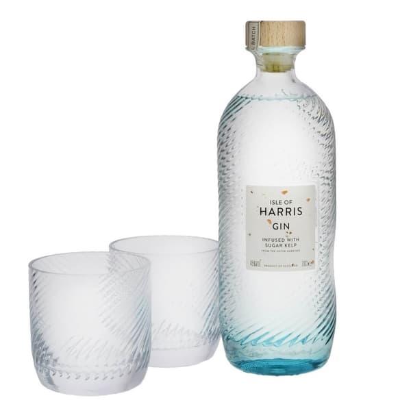 Isle of Harris Gin 70cl Set mit zwei Gläsern