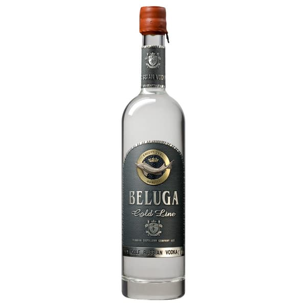 Beluga Vodka Gold Line Set mit Gläser 70cl
