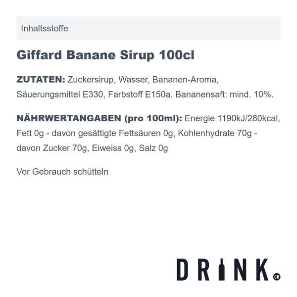 Giffard Banane Sirup 100cl