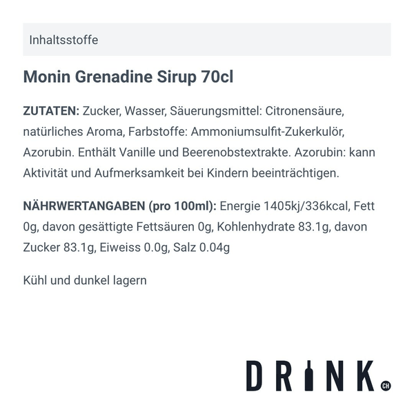Monin Grenadine Sirup 70cl