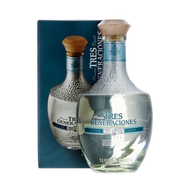 Sauza Tres Generaciones Plata Tequila mit Verpackung 70cl