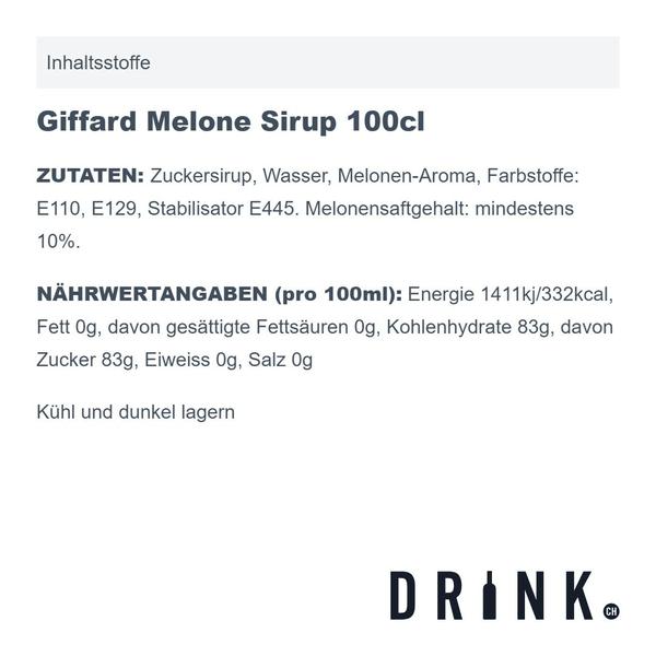 Giffard Melone Sirup 100cl