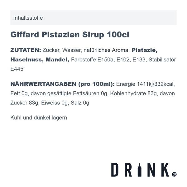 Giffard Sirop de Pistache 100cl