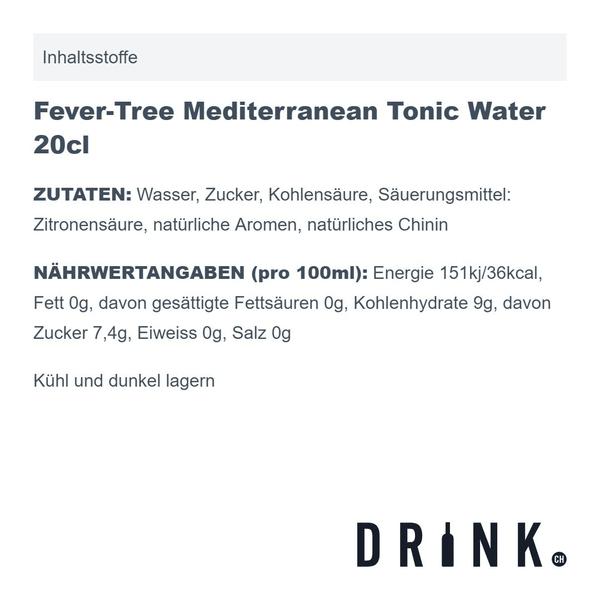Fever-Tree Mediterranean Tonic Water 20cl 4er Pack